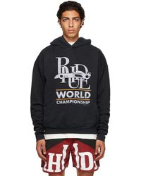 Rhude ブラック World Champion フーディ
