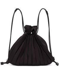 Issey Miyake Sac noir Linear Knit