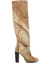 Lemaire Martín Ramírez コレクション マルチカラー プリント トール ブーツ