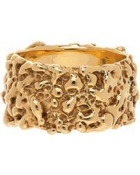 Faris Gold Roca Band Ring - Metallic