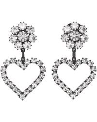 23e3169f3 Ashley Williams Black And Transparent Flower Heart Clip-on Earrings