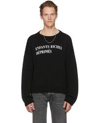 Enfants Riches Deprimes Black E.r.d Classique Logo Sweater