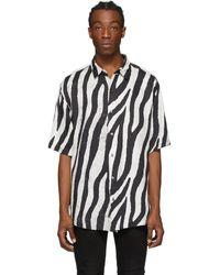 Ksubi ブラック And ホワイト Animal ショート スリーブ シャツ