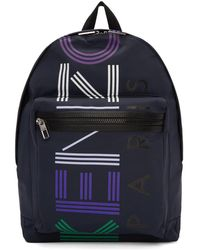 KENZO - Sac a dos a logo bleu marine edition limitee - Lyst
