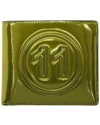 Maison Margiela - Green Metallic Wallet - Lyst