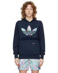 Noah Adidas Originals Edition Hoodie - Blue