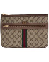 Gucci - ブラウン GG スプリーム オフィディア ポーチ - Lyst