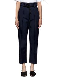 3.1 Phillip Lim - Navy Origami Pleated Trousers - Lyst
