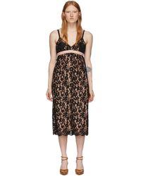 Gucci Flower Lace Shell Dress - Black