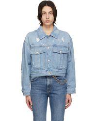Givenchy ブルー Destroyed ショート デニム ジャケット