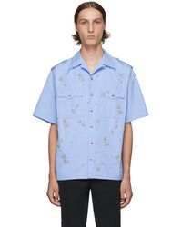 Prada - ブルー クリスタル ボウリング シャツ - Lyst
