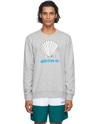 Noah Grey Adidas Originals Edition Shell Logo Sweatshirt