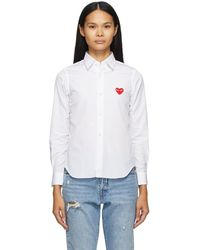COMME DES GARÇONS PLAY - ホワイト Heart Patch シャツ - Lyst