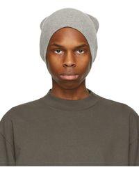 John Elliott Grey Wool & Cashmere Surplus Beanie