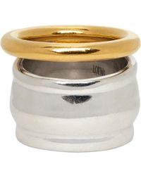Loewe Silver & Gold Nappa Knot Ring - Metallic