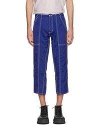 Eckhaus Latta Blue Blunt Pants