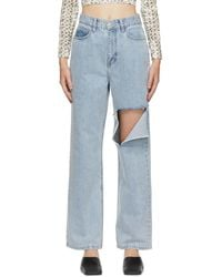 ROKH Blue Distressed Jeans