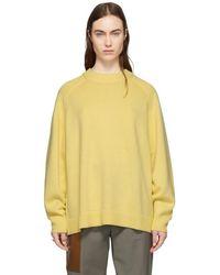 Tibi イエロー カシミア オーバーサイズ セーター