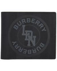 Burberry - グレー ロンドン チェック ウォレット - Lyst