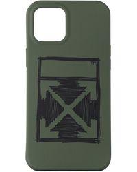 Off-White c/o Virgil Abloh グリーン Negative Mark Iphone 12 Pro Max ケース