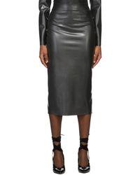 Saint Laurent ブラック ラテックス スカート