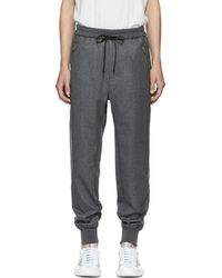3.1 Phillip Lim - Grey Cropped Drop Lounge Trousers - Lyst
