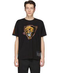 Givenchy - ブラック Cheetah T シャツ - Lyst