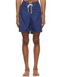 Jil Sander Blue Satin Swim Shorts