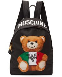 Moschino - ブラック Italian Teddy バックパック - Lyst