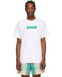Noah - ホワイト グラディエント ロゴ T シャツ - Lyst
