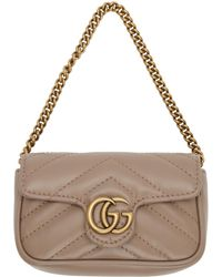 Gucci Pink GG Marmont Coin Case Bag - Multicolour