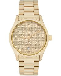 Gucci Gold Pyramid Iconic G-timeless Watch - Yellow