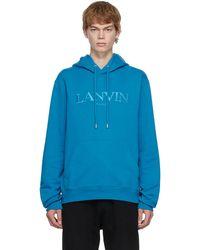 Lanvin ブルー ロゴ フーディ