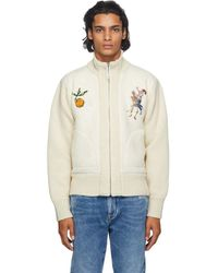 Off-White c/o Virgil Abloh Wool And Alpaca Pascal Lemon Zip-up Sweater - Multicolor