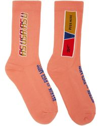 REEBOK X PYER MOSS - Pink Logo Socks - Lyst