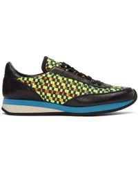 Comme des Garçons - Green Woven Hologram Sneakers - Lyst