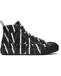 Valentino Garavani コレクション ブラック & ホワイト Vltn ハイトップ スニーカー