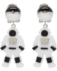 Prada - White Pop Rock Astronaut Drop Earrings - Lyst