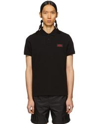 Moncler - Black Piping Polo - Lyst