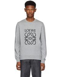 Loewe - Grey Large Anagram Sweatshirt - Lyst