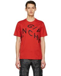 Givenchy - レッド Refracted ロゴ T シャツ - Lyst