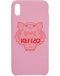 KENZO ピンク And レッド タイガー Iphone Xand ケース