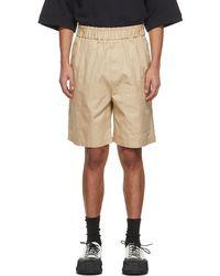 Jil Sander Short en gabardine de coton beige Pocket - Neutre