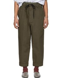 3.1 Phillip Lim - Brown Pull-on Rib Relaxed Trousers - Lyst