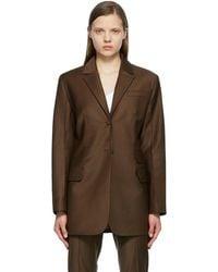 Materiel Tbilisi - ブラウン Menswear ブレザー - Lyst