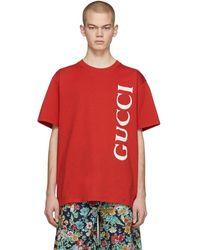 Gucci - レッド オーバーサイズ T シャツ - Lyst