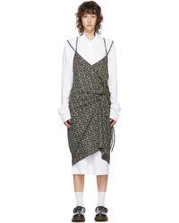 Pushbutton Ssense 限定 ホワイト & ブラック ポロ シャツ ドレス