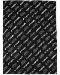 Vetements Star Wars Edition ブラック & ホワイトオール オーバー ロゴ スカーフ