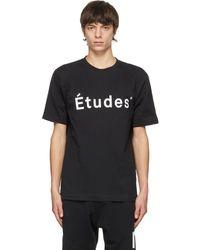 Etudes Studio ブラック Wonder T シャツ