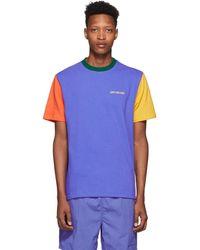 Aimé Leon Dore Blue Colorblock T-shirt
